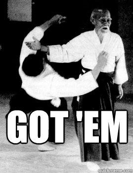 Got 'em  Aikido slap a bitch
