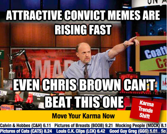 Attractive Convict memes are rising fast Even Chris Brown can't beat this one