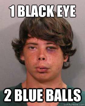 b107177d0302627bd04c34640f5078dd01d36219b029d8cc96e07b338791f0c3 1 black eye 2 blue balls scumbag brandon alexander marshall