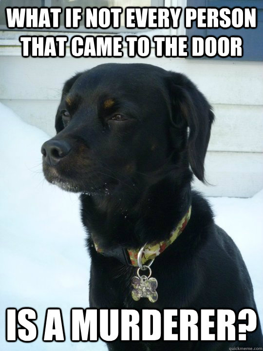 what if not every person that came to the door is a murderer?