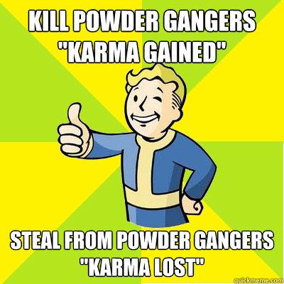 Kill powder gangers