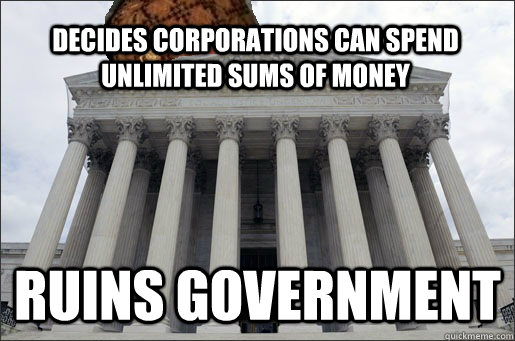 Decides Corporations Can Spend Unlimited Sums of Money Ruins Government