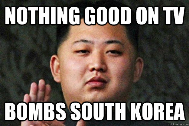 nothing good on tv bombs south korea