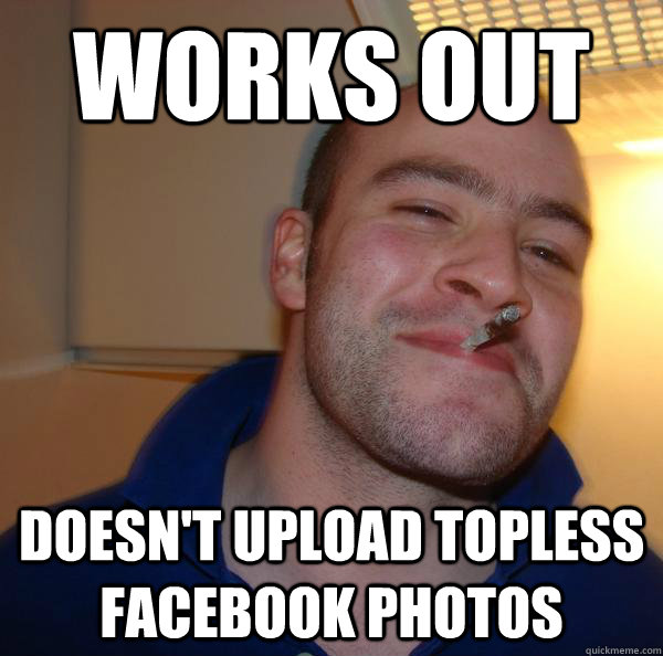 Works out doesn't upload topless facebook photos  - Works out doesn't upload topless facebook photos   Misc