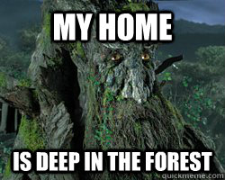 My home  is deep in the forest - My home  is deep in the forest  Treebeard Wisess