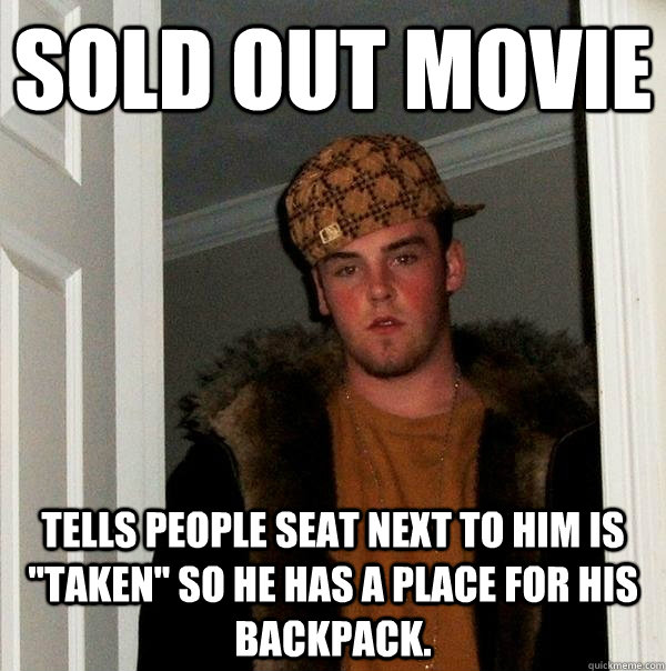 Sold out movie Tells people seat next to him is