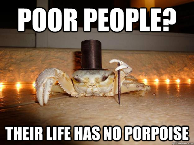 Poor people? their life has no porpoise - Poor people? their life has no porpoise  Misc