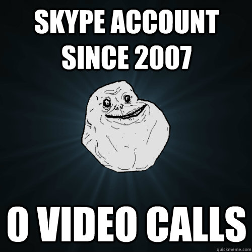 SKYPE ACCOUNT SINCE 2007 0 VIDEO CALLS - SKYPE ACCOUNT SINCE 2007 0 VIDEO CALLS  Forever Alone