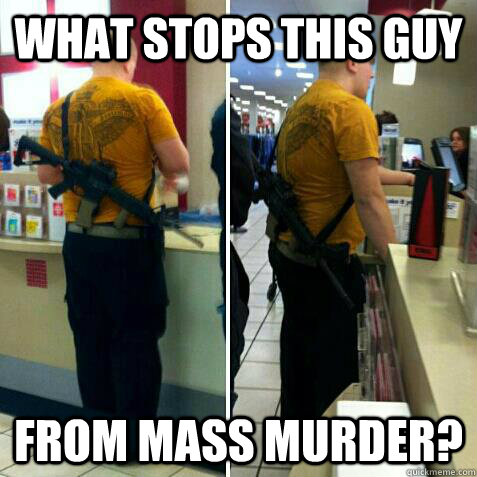 What stops this guy from mass murder? - What stops this guy from mass murder?  Misc