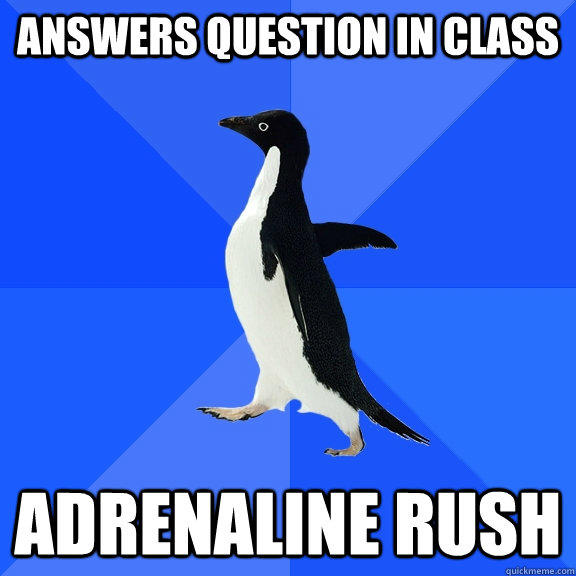 Answers Question in class Adrenaline rush