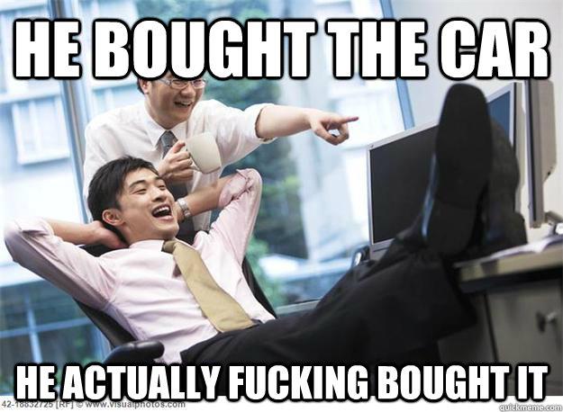 Car salesmen meme