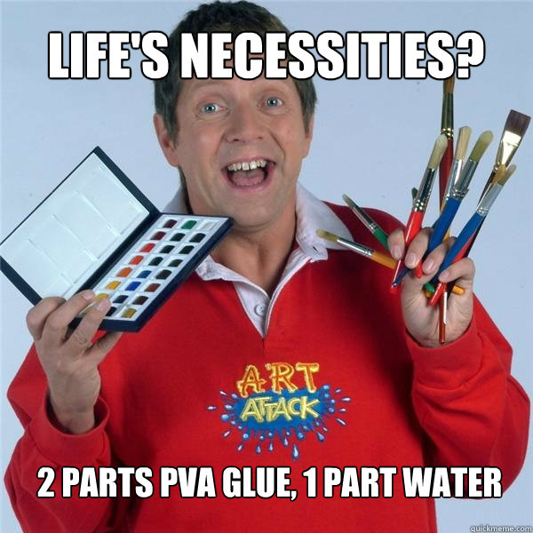 Parts Pva Glue  Part Water Art