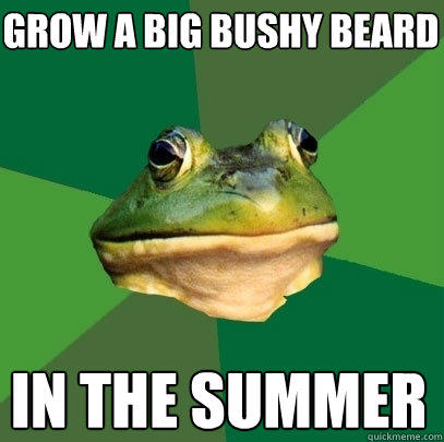 grow a big bushy beard in the summer - grow a big bushy beard in the summer  Foul Bachelor Frog