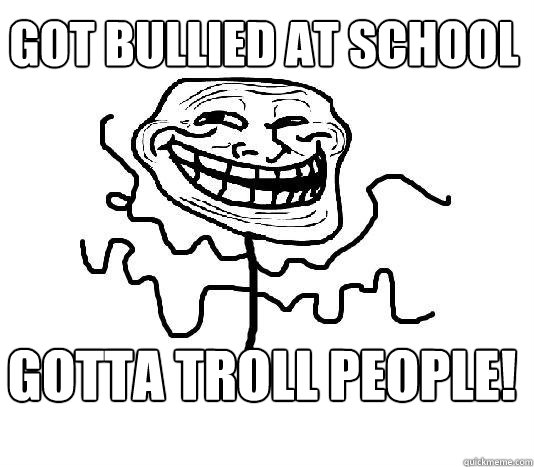 Got bullied at school gotta troll people!  SLENDER MAN TROLL