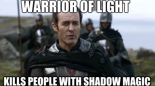 Warrior of light kills people with shadow magic