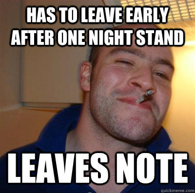 has to leave early after one night stand leaves note - has to leave early after one night stand leaves note  GGG plays SC