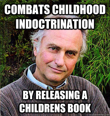 combats childhood indoctrination by releasing a childrens book