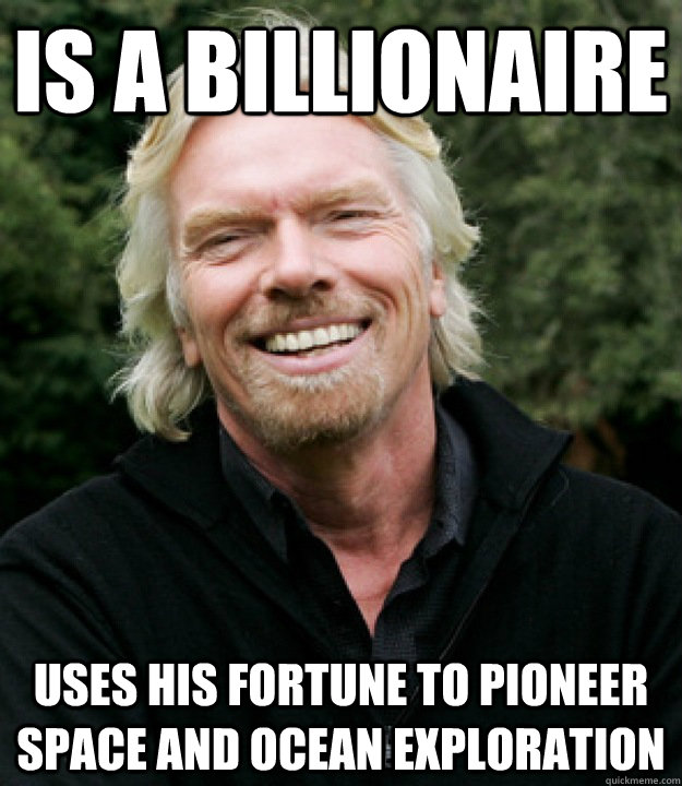 is a billionaire uses his fortune to pioneer space and ocean exploration