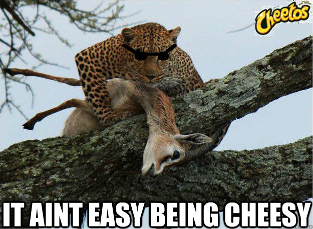 It Aint Easy Being Cheesy Chester The Cheetah Quickmeme