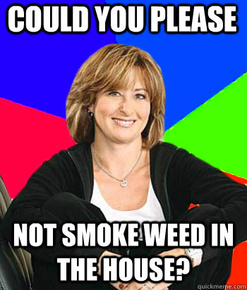 could you please not smoke weed in the house? - could you please not smoke weed in the house?  Sheltering Suburban Mom