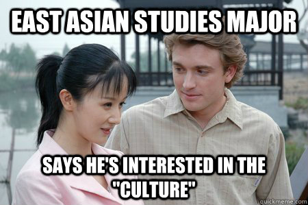 East asian studies major says he's interested in the