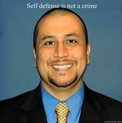 Self defense is not a crime