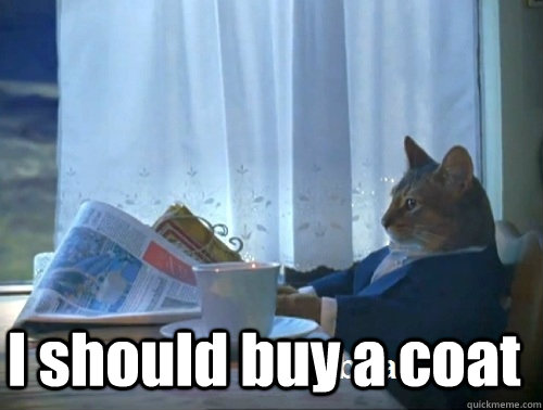 I should buy a coat -  I should buy a coat  Rich cat is rich