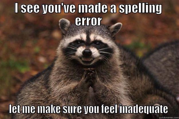 Grammar Nazi Raccoon Quickmeme