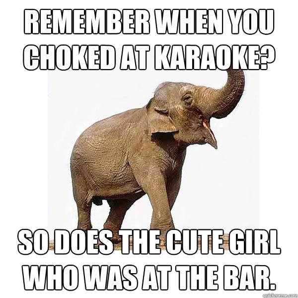 Funny Karaoke Memes : Remember when you choked at karaoke so does the cute girl