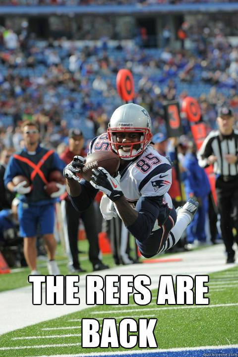 the refs are back -  the refs are back  photogenic Brandon Lloyd