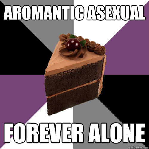 Aromantic Asexual forever alone  Asexual Cake