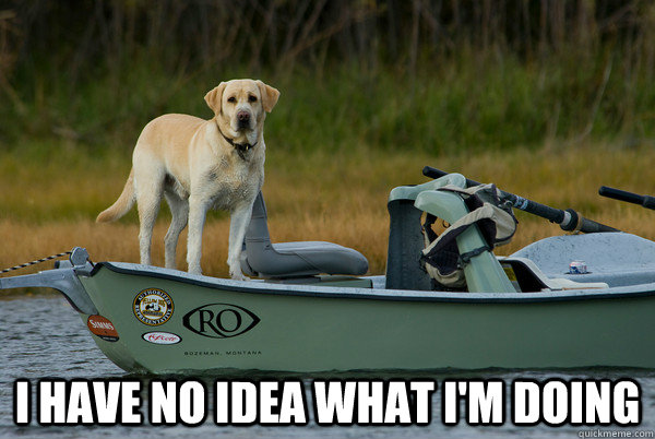 I HAVE NO IDEA WHAT I'M DOING - I HAVE NO IDEA WHAT I'M DOING  Fly Fishing Dog