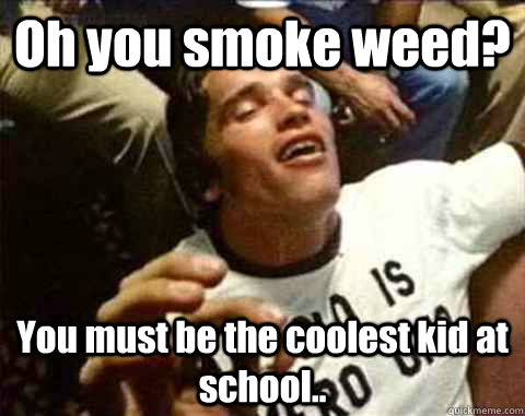 Oh you smoke weed? You must be the coolest kid at school..