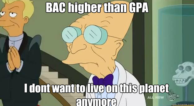 BAC higher than GPA I dont want to live on this planet anymore