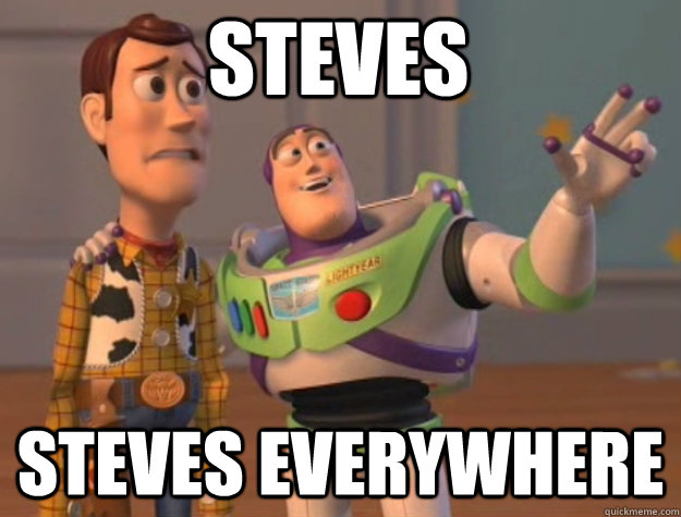 Steves Steves Everywhere