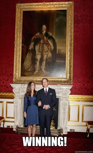 Winning!  Kate Middleton