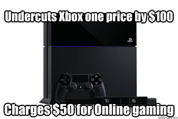 Undercuts Xbox one price by $100 Charges $50 for Online gaming - Undercuts Xbox one price by $100 Charges $50 for Online gaming  Misc