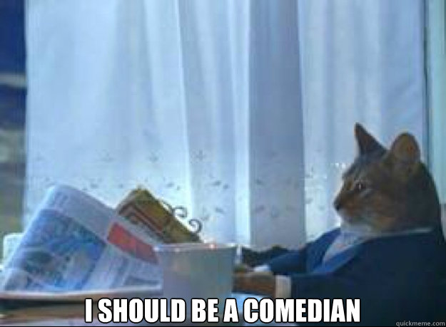 I should be a comedian  - I should be a comedian   I should buy a boat cat