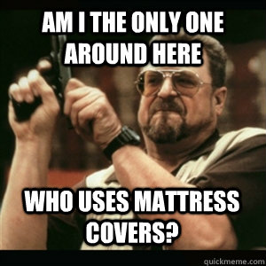 Am i the only one around here Who uses mattress covers? - Am i the only one around here Who uses mattress covers?  Misc