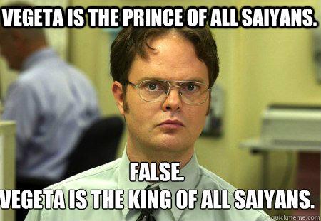 King Vegeta And Prince Vegeta Vegeta is The Prince of All