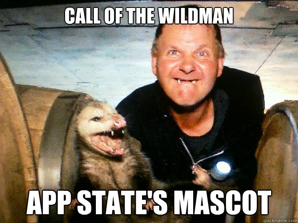 Call of the Wildman App State's Mascot - Call of the Wildman App State's Mascot  App State