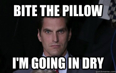 bite the pillow i'm going in dry - bite the pillow i'm going in dry  Menacing Josh Romney