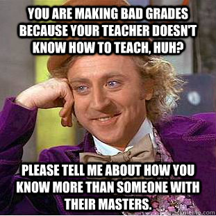 What can I do about a teacher who doesn't teach?