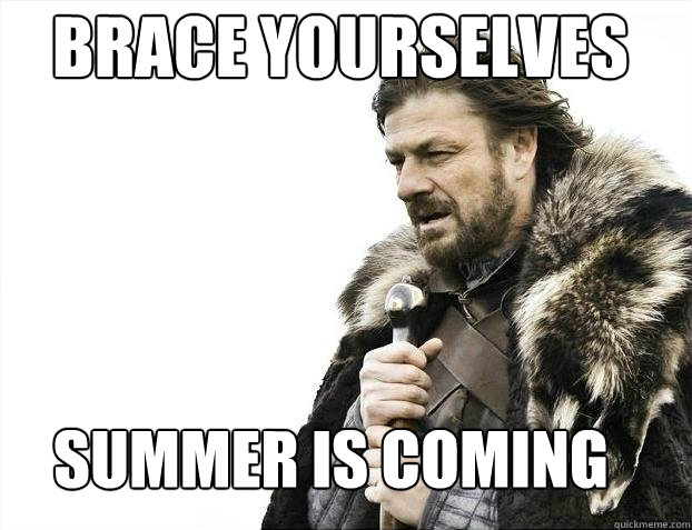 Brace yourselves  Summer is coming - Brace yourselves  Summer is coming  BDAY BRACE