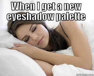 WHEN I GET A NEW EYESHADOW PALETTE  Sleep Meme