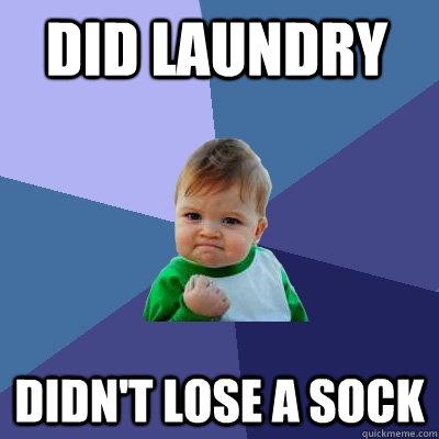 did laundry didn't lose a sock - did laundry didn't lose a sock  Success Kid