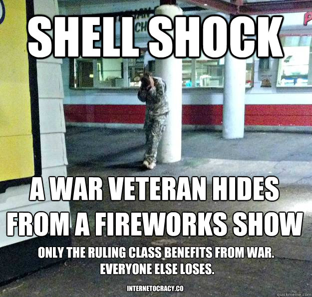 b4c82db845248d805eb15ffb850dd1dd51d31534d993eeb6739b78fcfbdba9c5 shell shock a war veteran hides from a fireworks show only the