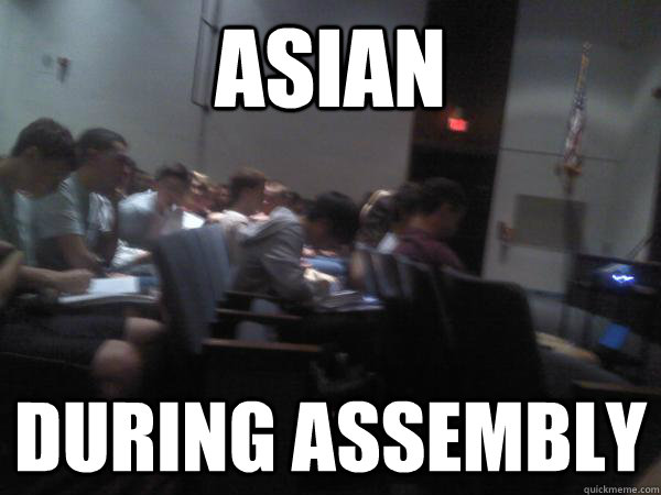 Asian During Assembly