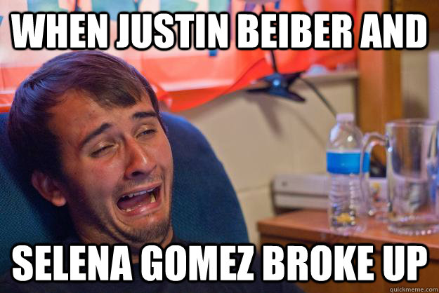 When Justin Beiber and  Selena Gomez Broke Up