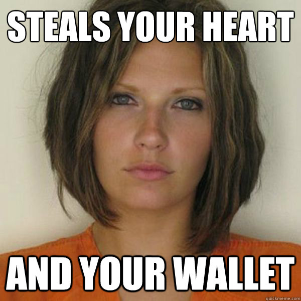 steals your heart and your wallet - steals your heart and your wallet  Attractive Convict